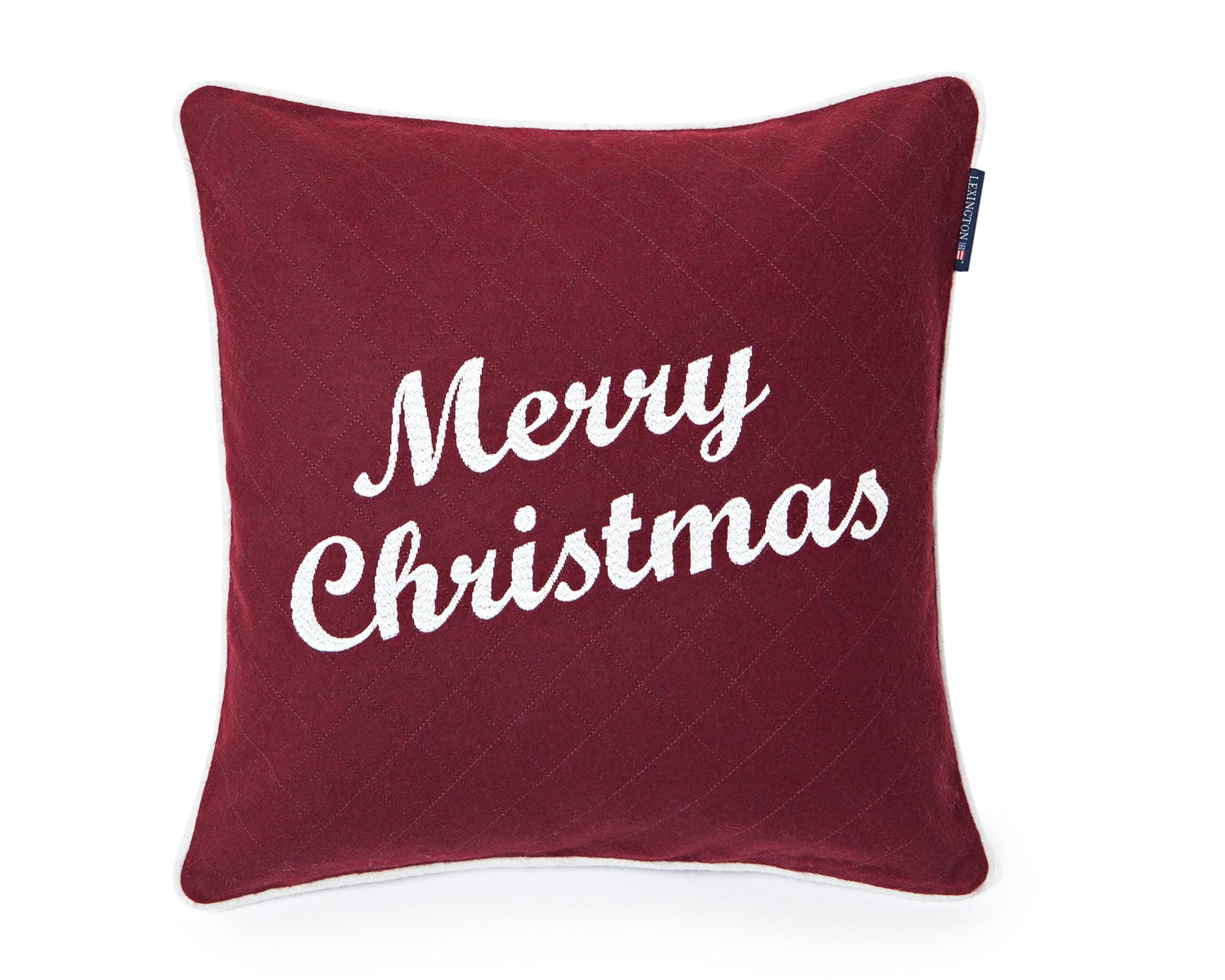 Merry Christmas Sham, Red