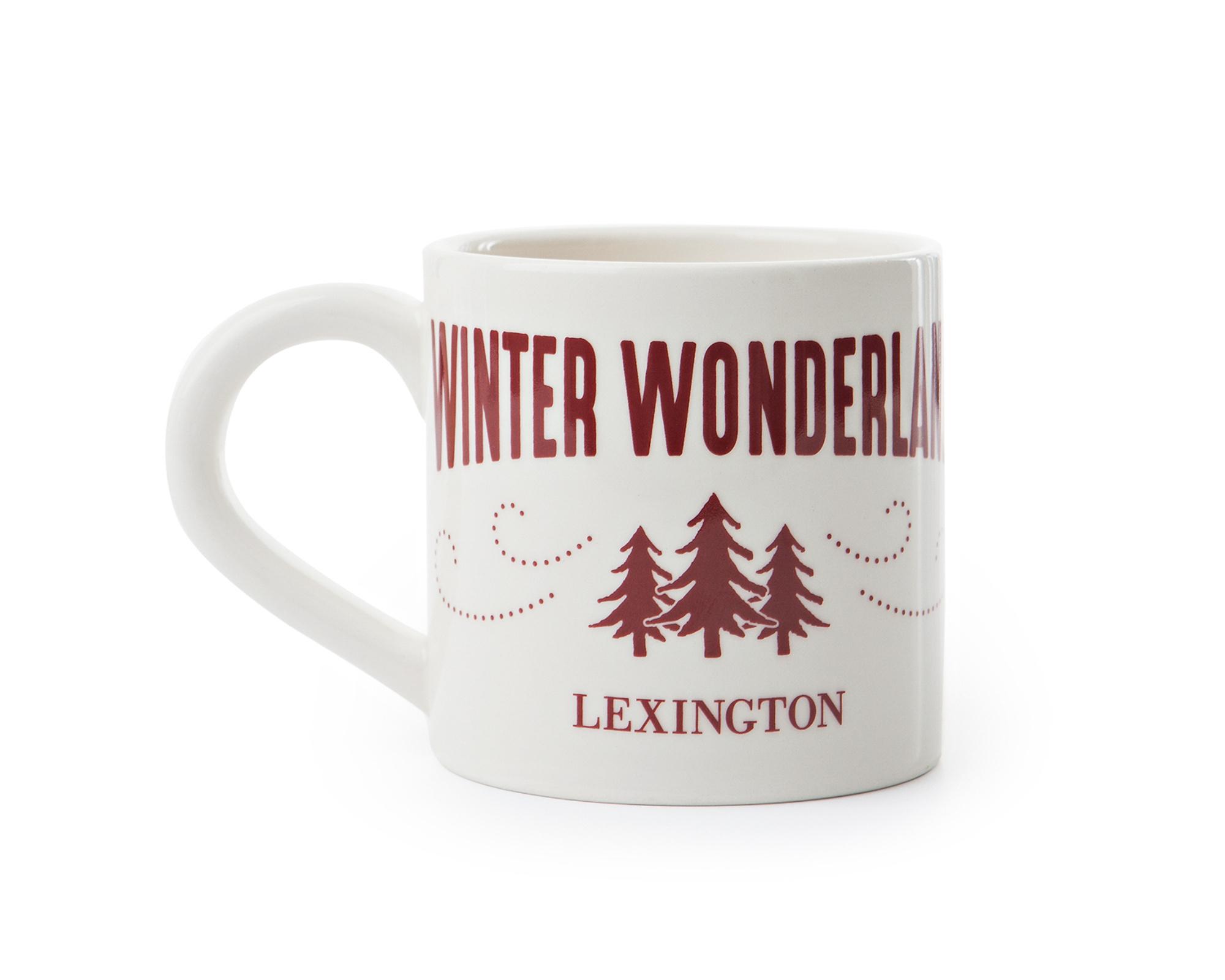 Winter Wonderland Mug, White/Red