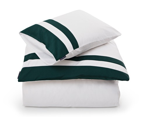 Green Border Sateen Flat Sheet