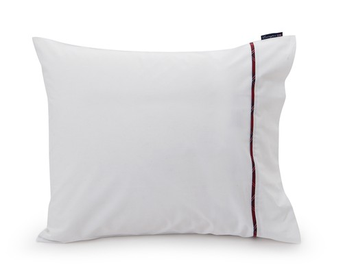 Sateen with Checked Piping Pillowcase