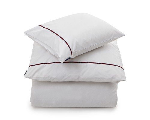 Sateen with Checked Piping Duvet