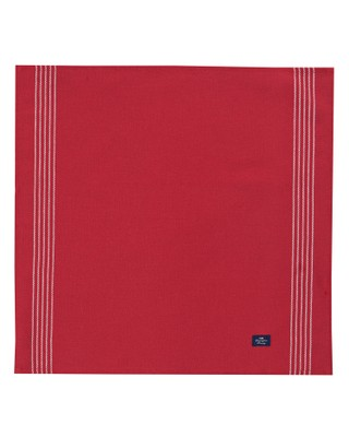 Napkin with Stripes, Red
