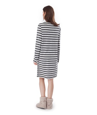 Rosy Nightgown, Gray Stripe