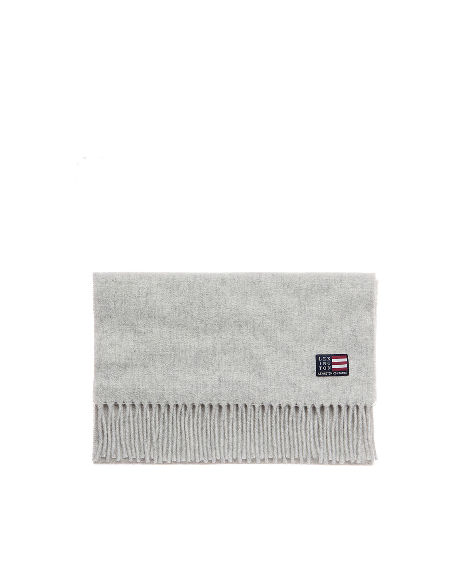 Massachussets Wool Scarf, Light Warm Gray