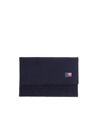Massachussets Wool Scarf, Deep Marine Blue