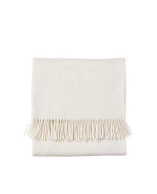 Aurora Spring Wool Scarf, Shell White
