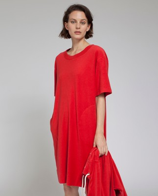 Cory Terry Dress, Pompeian Red