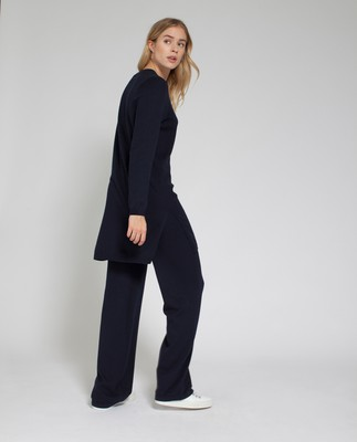 Laine Knit Pants, Deep Marine Blue
