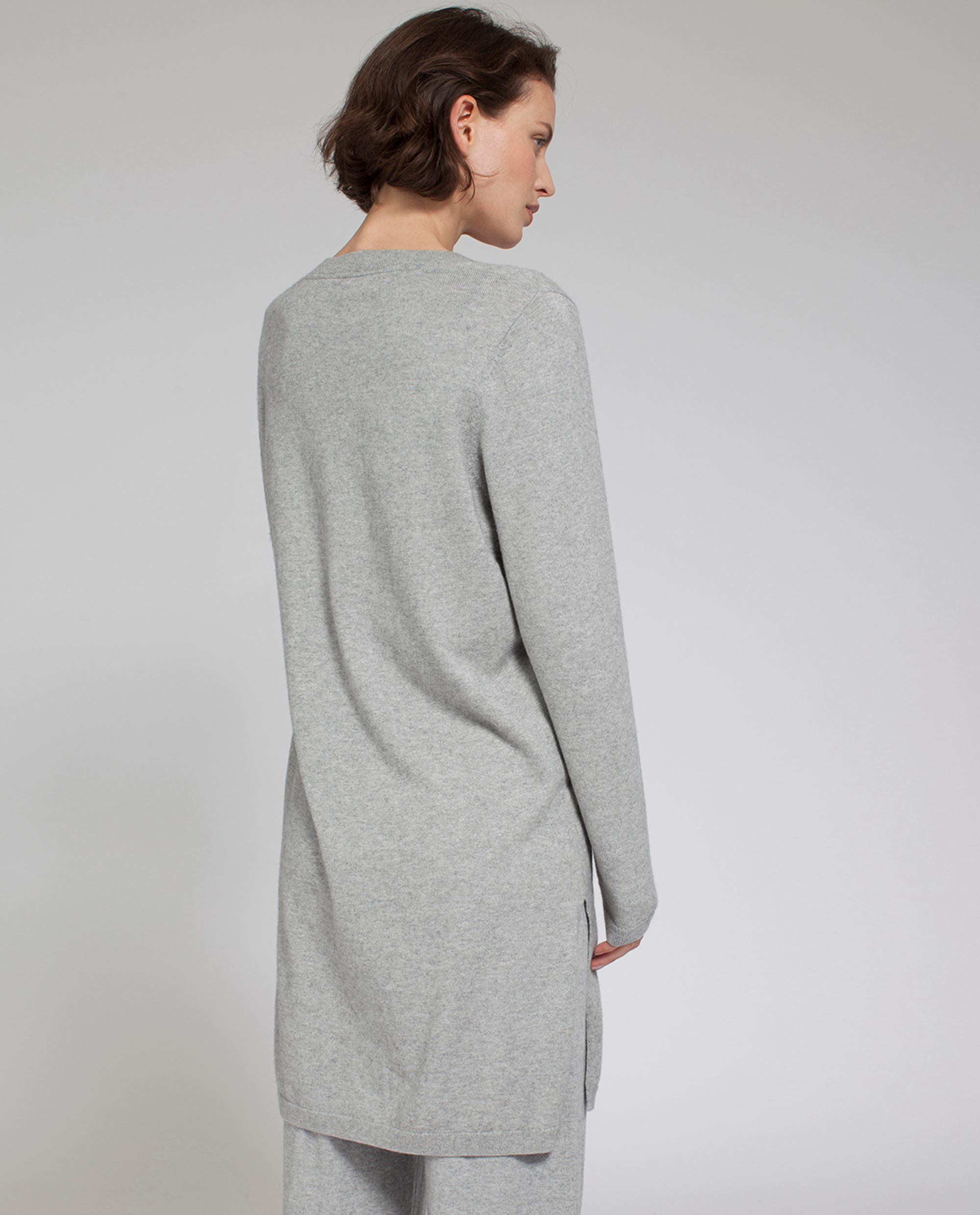 Eli Knit Tunic, Light Warm Gray