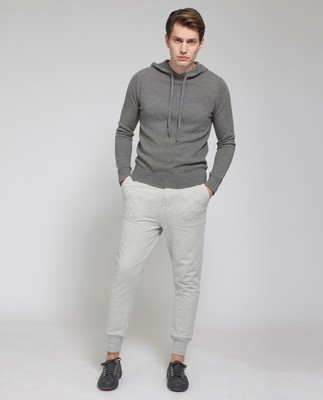 Bailey Knitted Hood, Heather Gray