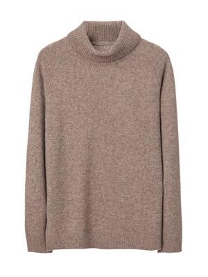 Kent Rollneck Sweater, Silver Mink