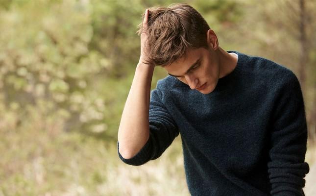 Harry Mohair Sweater, Indigo