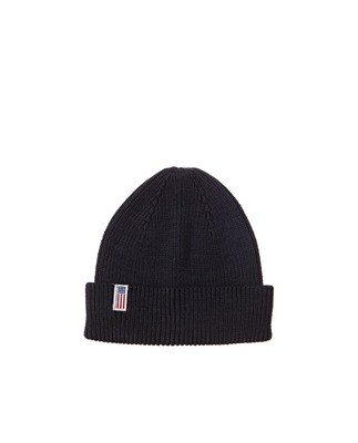Stockton Cotton Beanie, Deep Marine Blue
