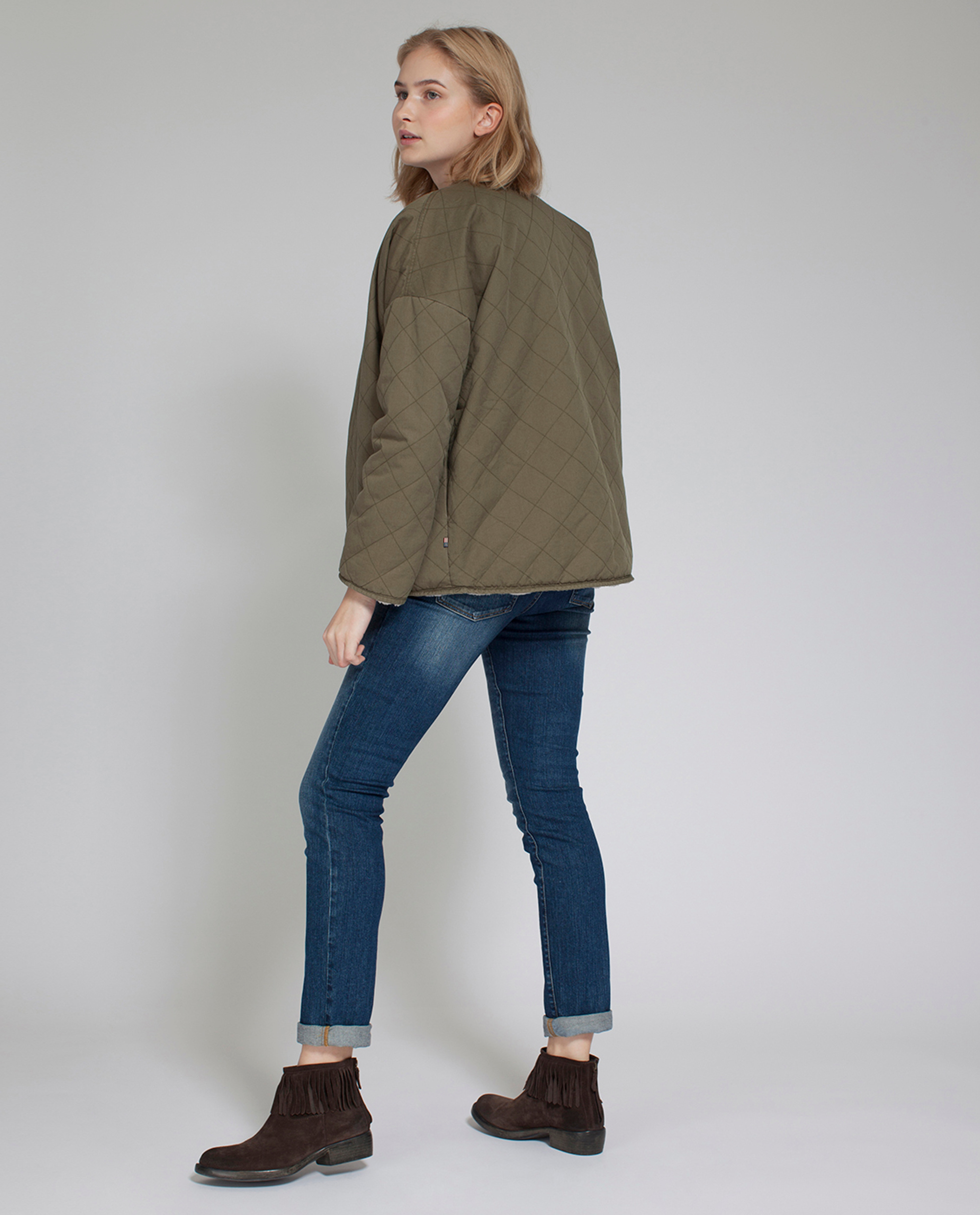 Angelina Reversible Jacket, Savanna Green