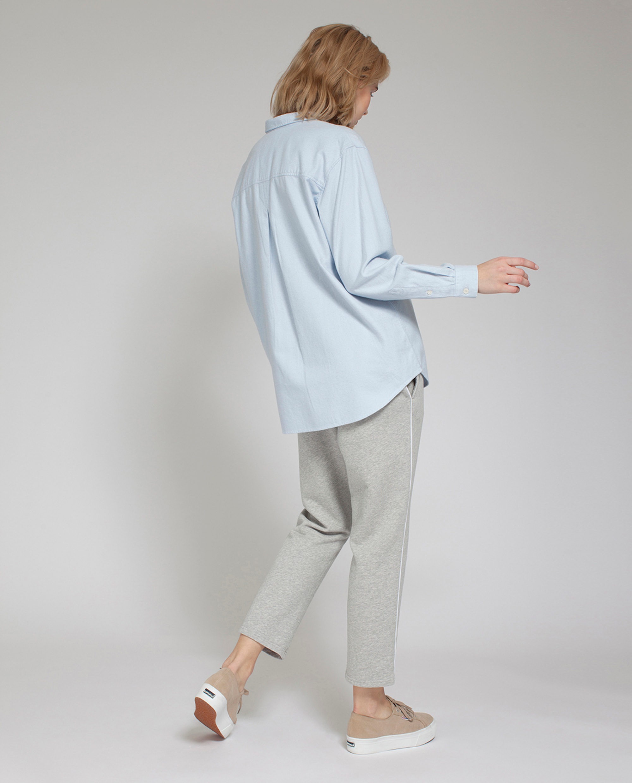 Zaira Flannel Shirt, Light Blue
