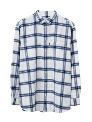 Zaira Flannel Shirt, Blue/White Check