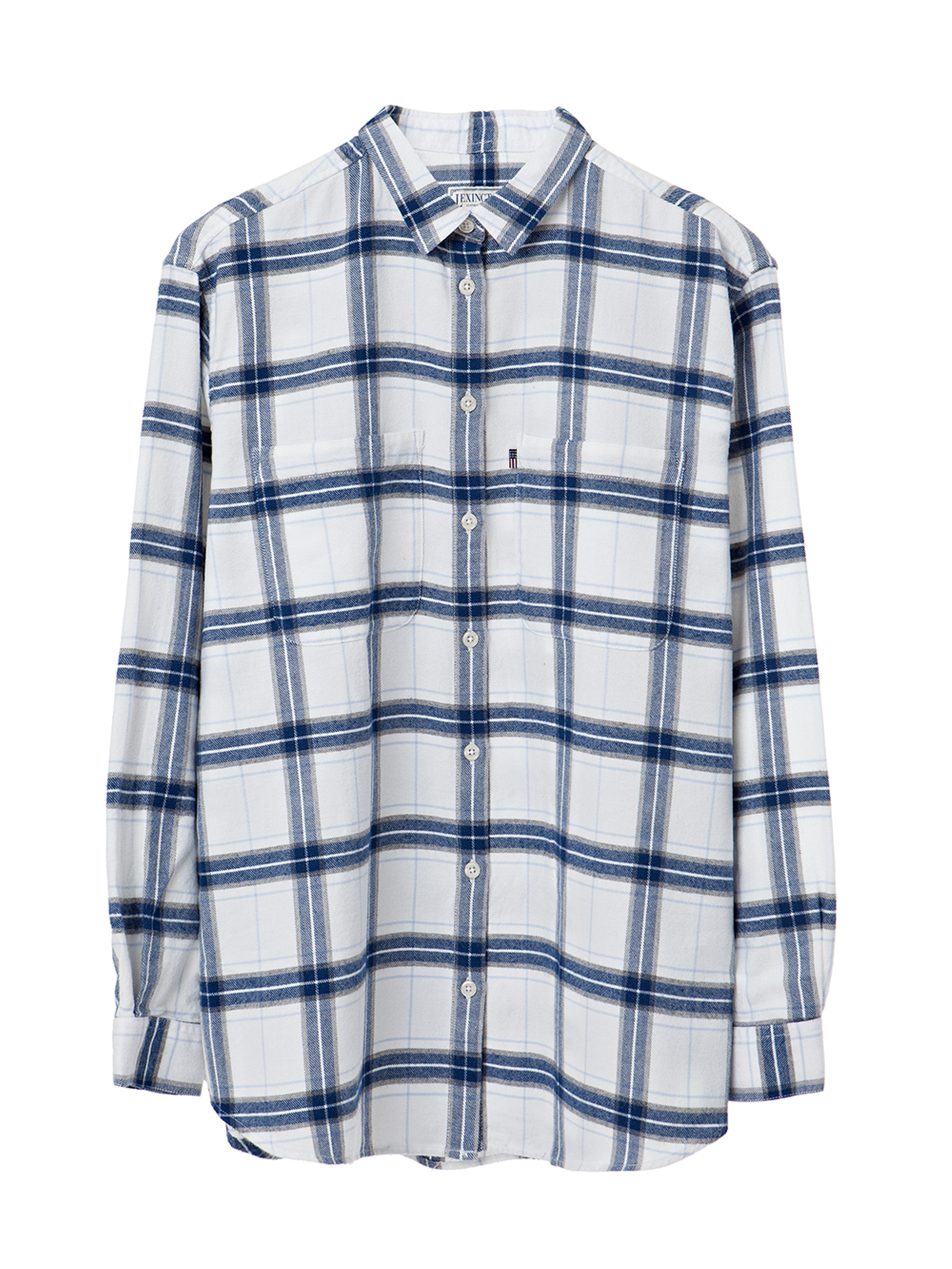 Zaira Flannel Shirt, Blue/White Check
