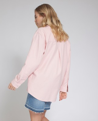 Zaira Flannel Shirt, English Rose Pink