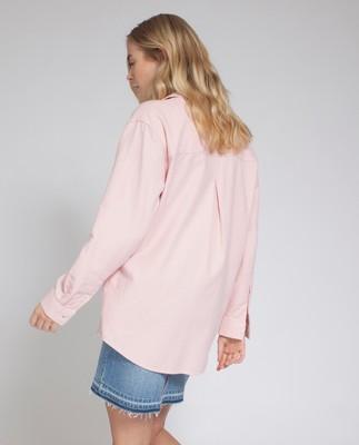 Zaira Flannel Shirt, English Rose Pink