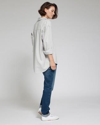 Zaira Flannel Shirt, Light Warm Gray
