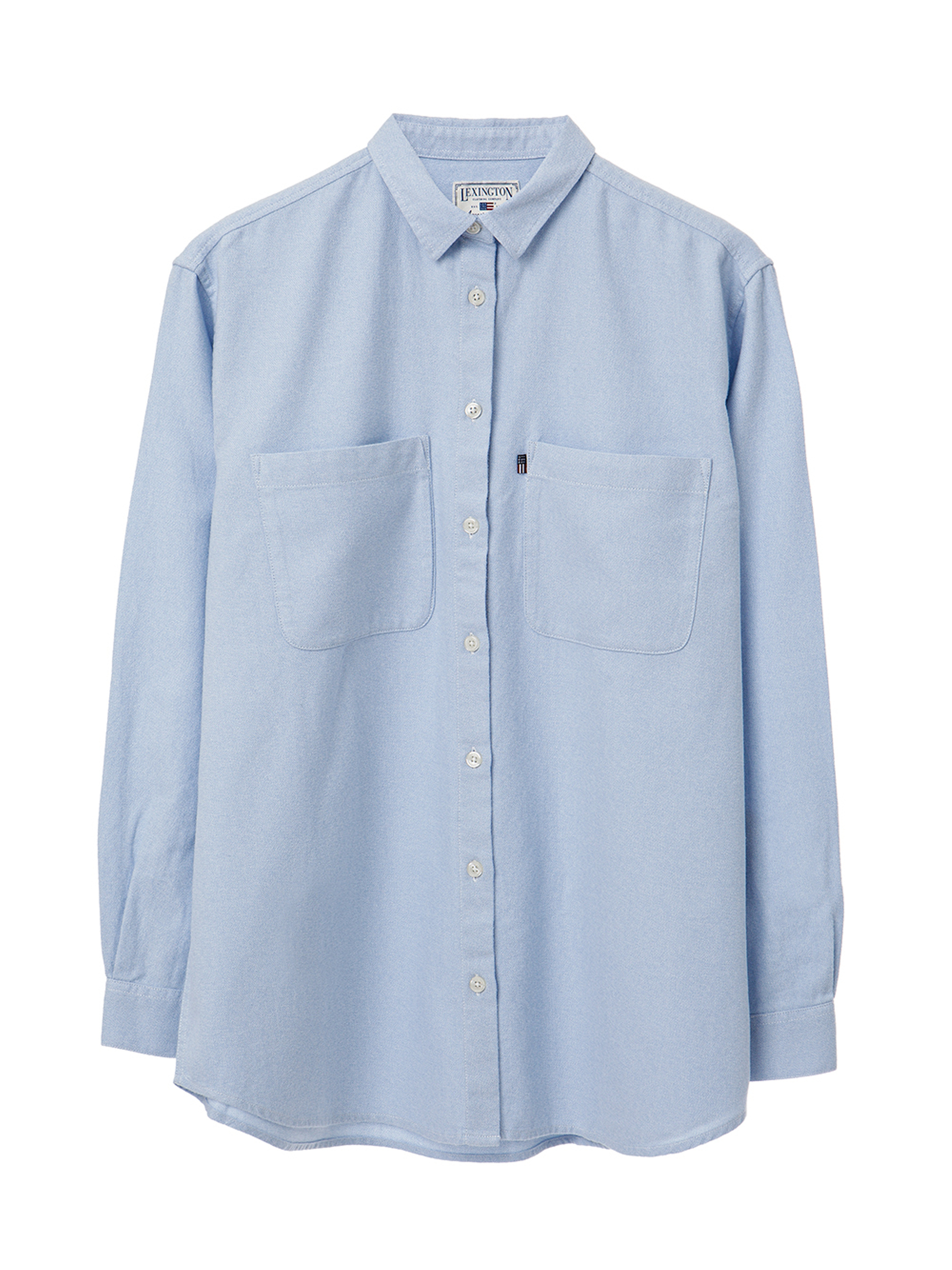Zaira Flannel Shirt, Light Blue
