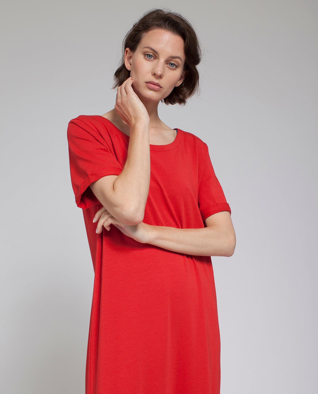 Elana Long Dress, Pompeian Red