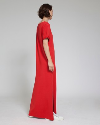 Elana Long Dress, Pompeian Red