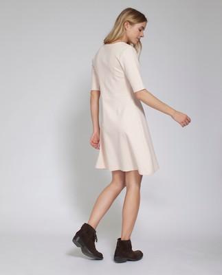 Scarlett Jersey Dress, Shell Pink