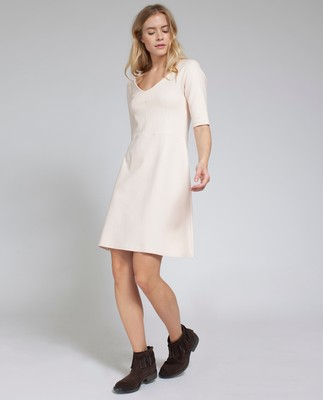 Scarlett Jersey Dress, Shell Pink