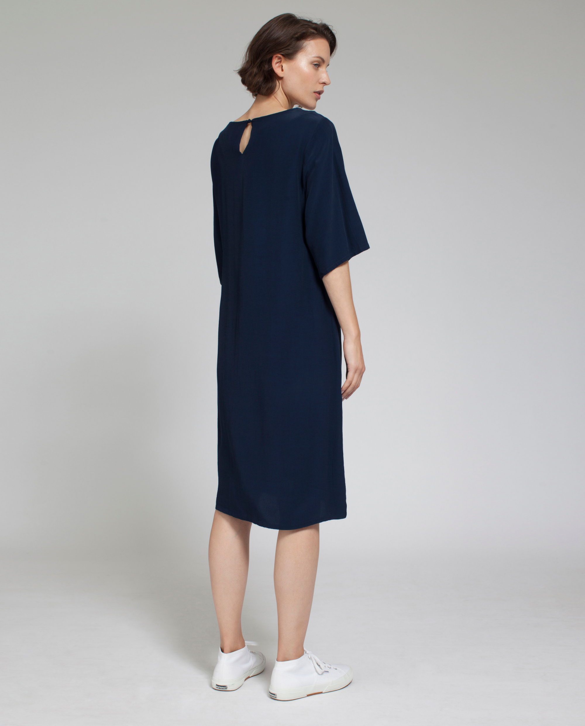 Grace Dress, Deepest Blue