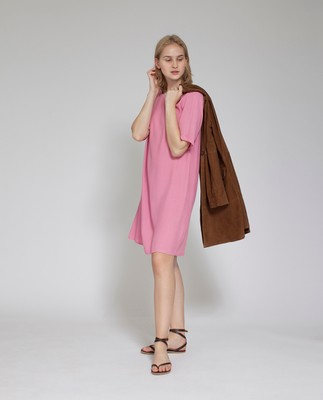 Grace Dress, Chateau Rose Pink