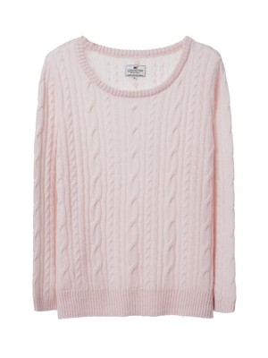 Stella Mohair Sweater, Shell Pink