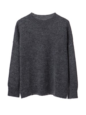 Laila Mohair Sweater, Heather Gray