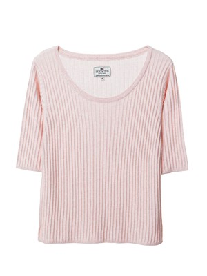 Verna Rib Sweater, English Rose Pink