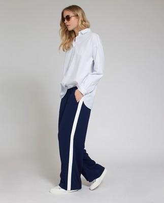 Celine Wide Pants, Deepest Blue
