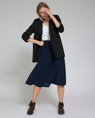 Amanda Plisse Skirt, Deepest Blue
