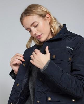 Hedda Quilted Jacket, Deep Marine Blue