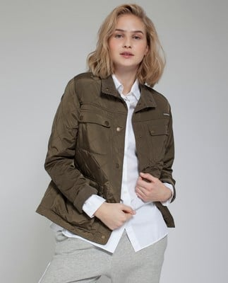 Hedda Quilted Jacket, Hunter Green