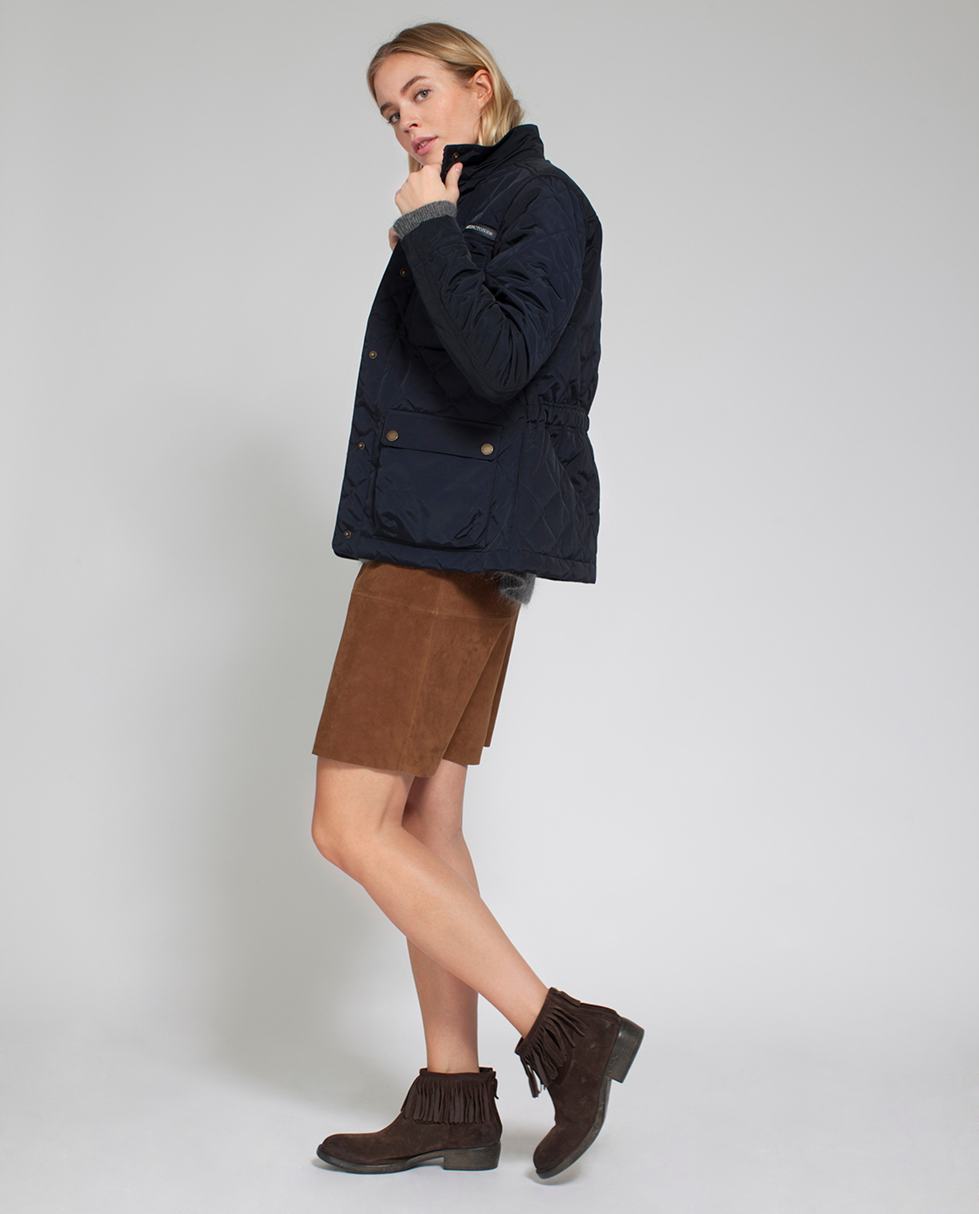 Hedda Quilted Jacket, Deep Marine Blue