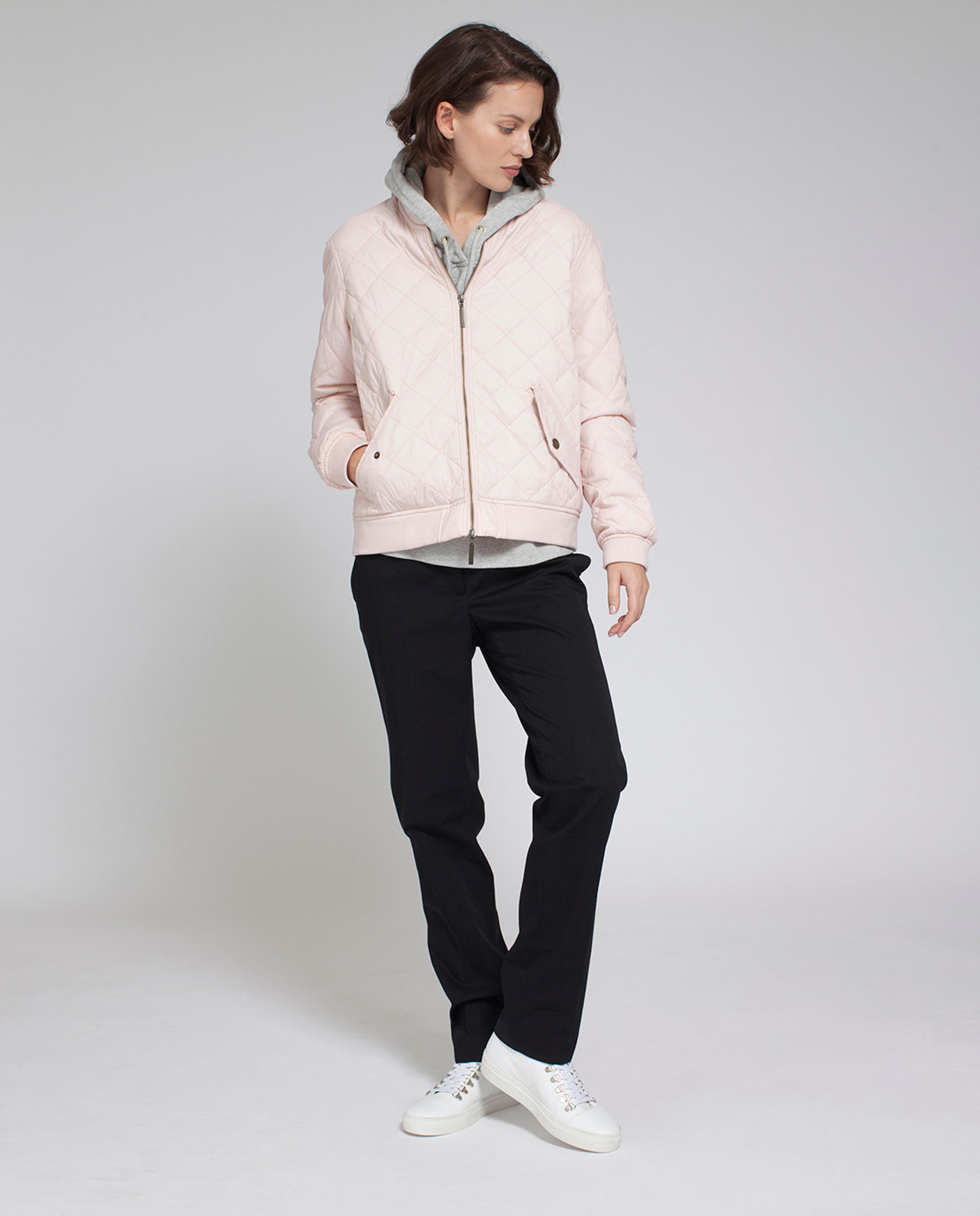 Greta Quilted Jacket, Veiled Rose Pink