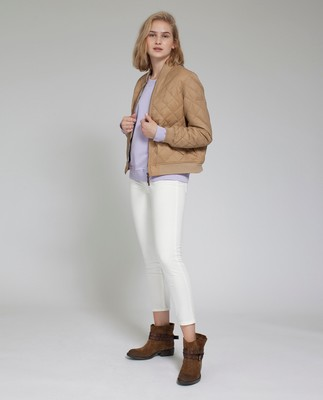 Greta Quilted Jacket, Camel