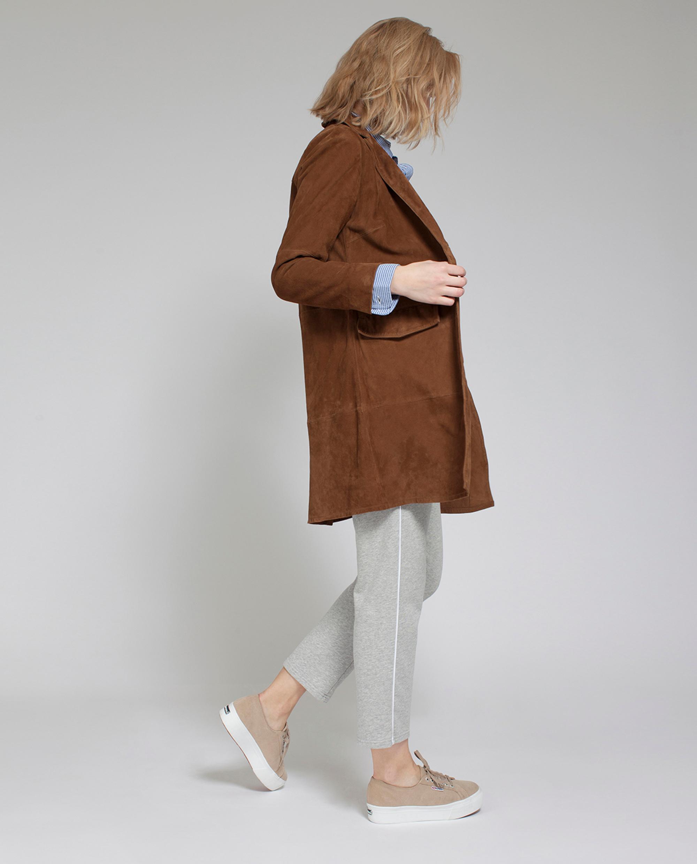 Denise Suede Long Blazer