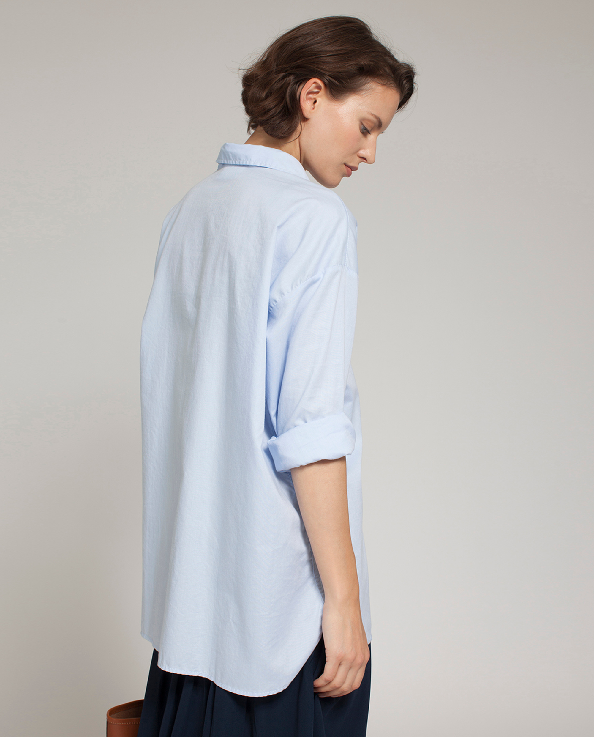 Edith Light Oxford Shirt, Light Blue