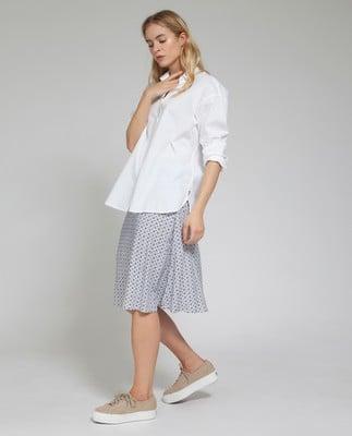 Edith Poplin Shirt, Bright White