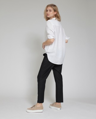 Isa Linen Shirt, Bright White