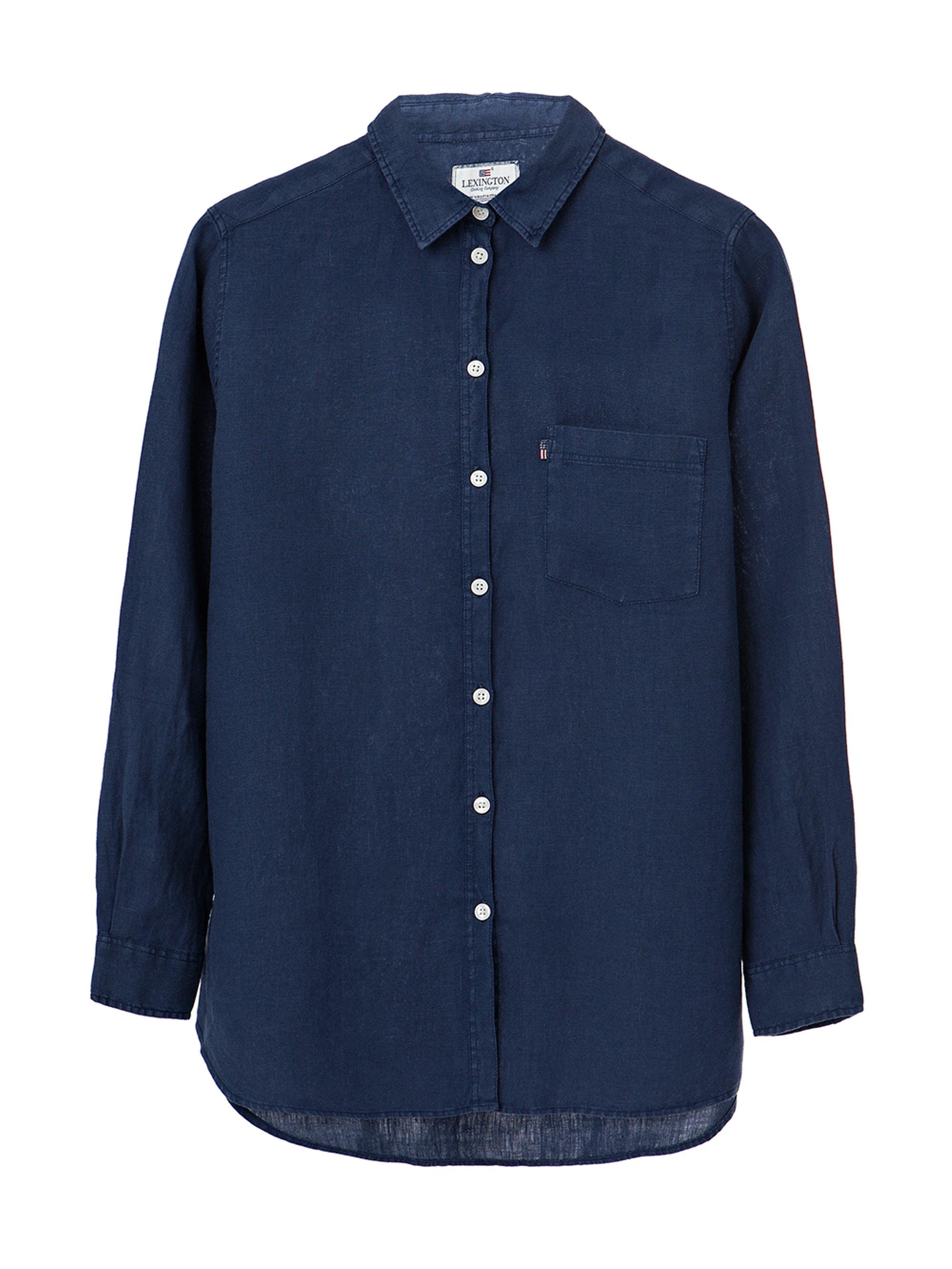 Isa Linen Shirt, Deepest Blue
