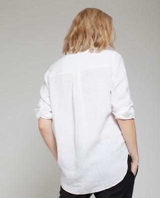 Isa Linen Shirt, Bright White