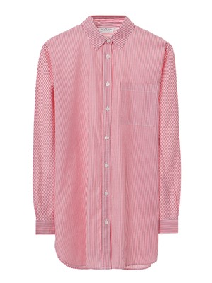 Sophia Cotton Shirt, Red/White