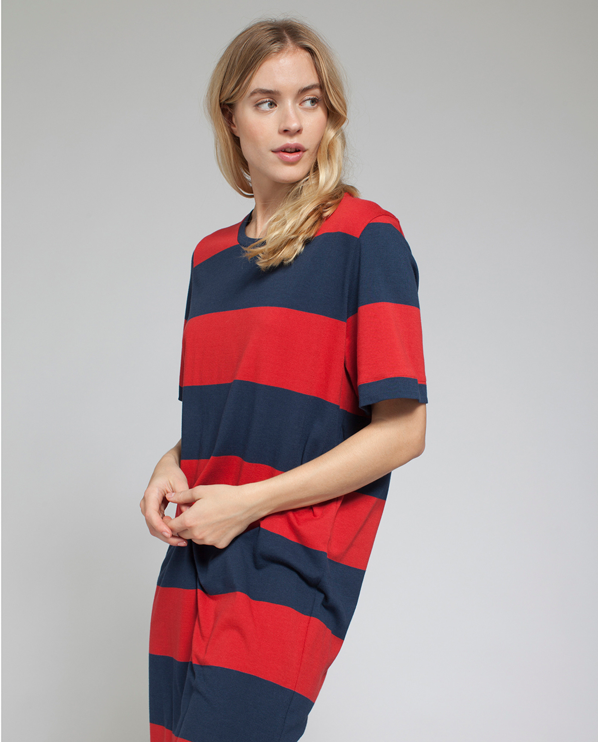 Lali Jersey Dress, Blue/Red