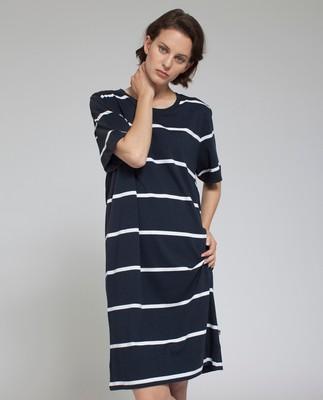 Lali Jersey Dress, Blue/White